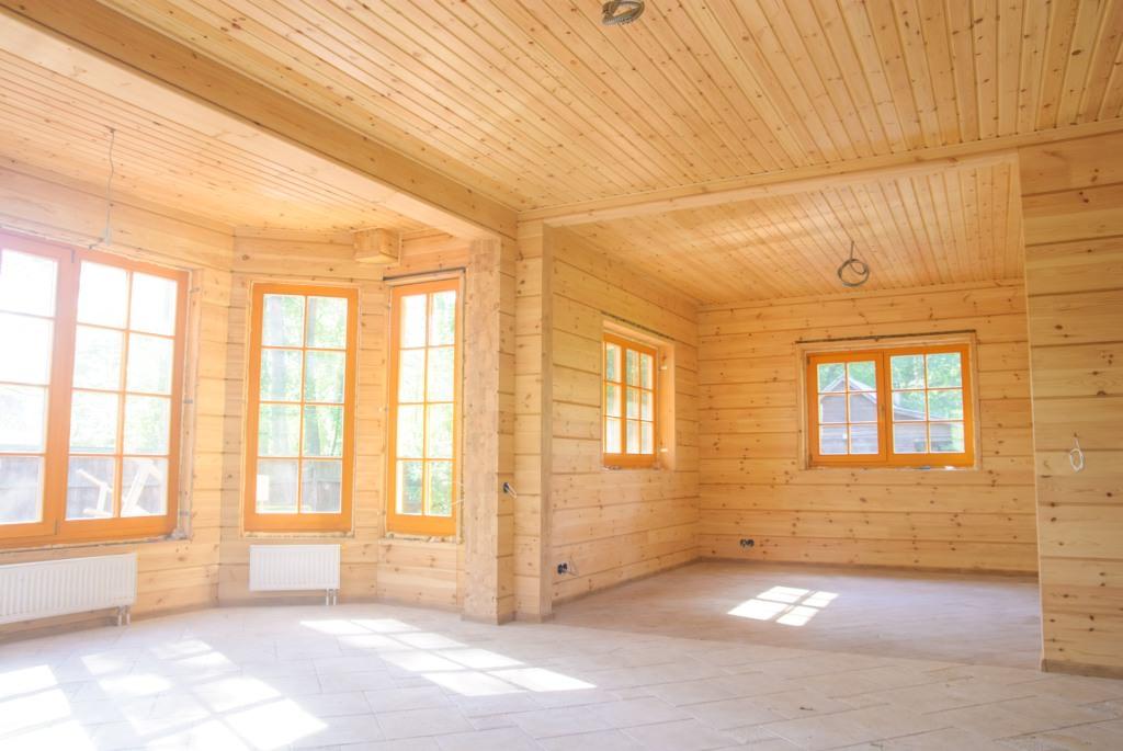 если готовые деревянные дома без отделки внутри фото заключается